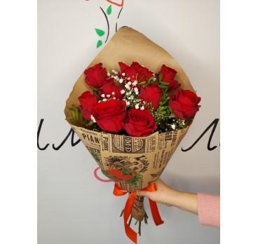 Букет из крымских роз №41