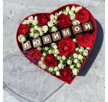 Коробка с цветами №23