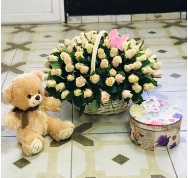 Коробка с цветами №28