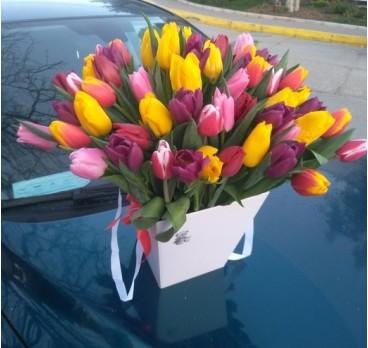 Коробка с цветами №9