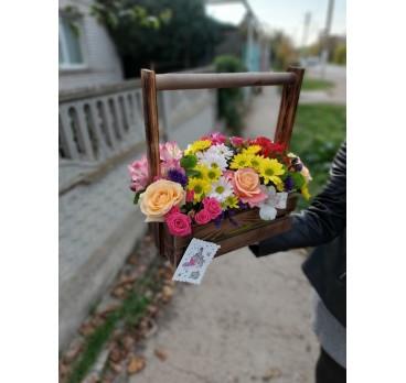 Коробка с цветами №19