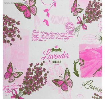 Бумага Крафт Lavander Белая Розовый
