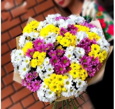 Букет из хризантем №5