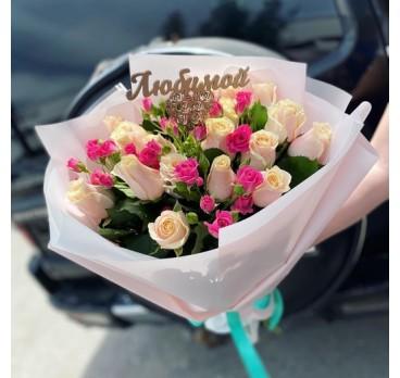 Букет из крымских роз №25