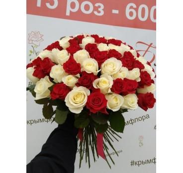 Букет из крымских роз №21