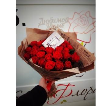 Букет из крымских роз №29
