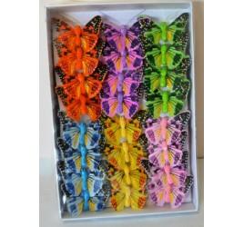 Бабочка 5 см На Прищепке 24 шт
