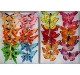 Бабочка 18 см На Прищепке 12 шт