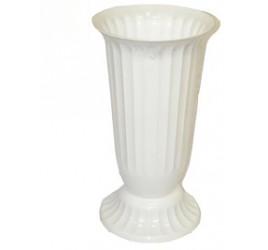 Вазы Для Цветов Пластиковые Рифлёные №2 Белая