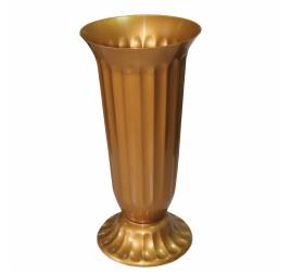 Ваза Для Цветов Пластиковые Рифленые №2 Золотая
