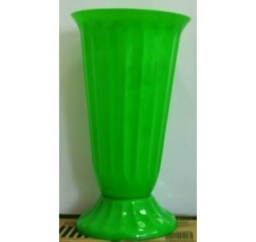 Ваза Для Цветов Пластиковые Рифленые №1 Зеленая