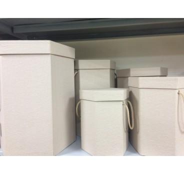 Коробка Квадрат из 5 шт Миндаль