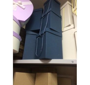 Коробка Квадрат из 5 шт Амарантовый