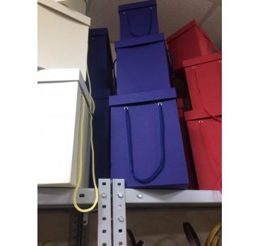 Коробка Квадрат из 5 шт Темно Синий