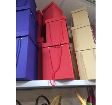 Коробка Квадрат из 5 шт Красная