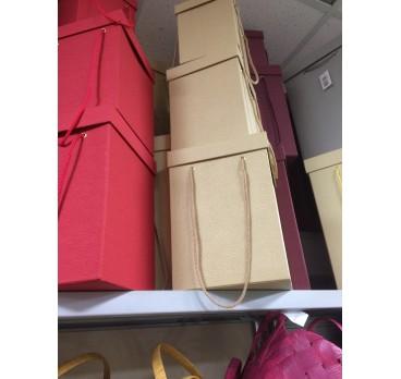 Коробка Квадрат из 5 шт Ваниль