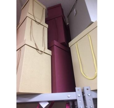 Коробка Квадрат из 5 шт Песочная