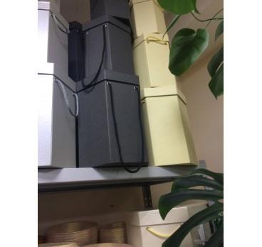 Коробка Ромб из 5 шт Шампань