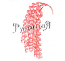 Спираль Из Древесного на Прудке Розовая 8 см (40 шт)