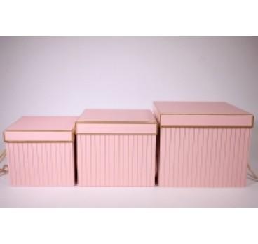 Коробка Куб из 3 шт в полоску 22*18