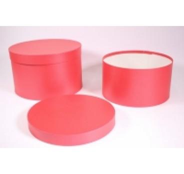 Коробка Шляпная из 2 шт красная 25*20 см