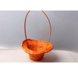 Корзина Плетёная Шляпа  Оранжевая 20*28