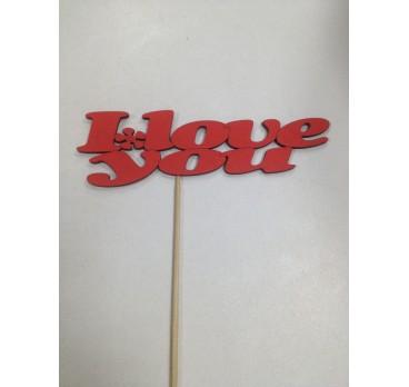Таблички I Love You Красная