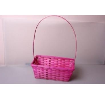 Корзина Плетеная розовая 30*17*12*45