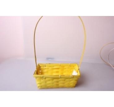 Корзина Плетеная желтая 22*11*9