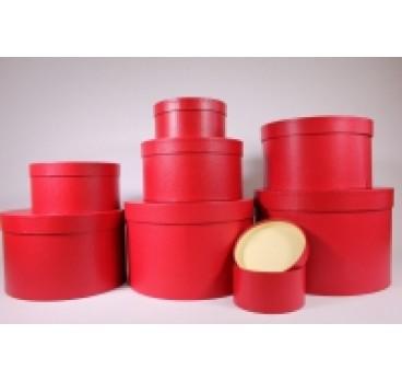 Коробки Цилиндр из 8 шт 31*31*20 см Красный