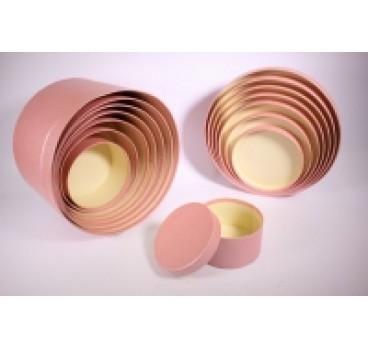 Коробки Цилиндр из 8 шт 31*31*20 см Розовый