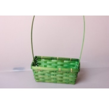 Корзина Плетеная зеленая 22*11*9