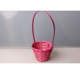 Корзина Плетеная Розовая 13*28 см