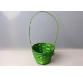 Корзина Плетеная Зеленая 13*28 см