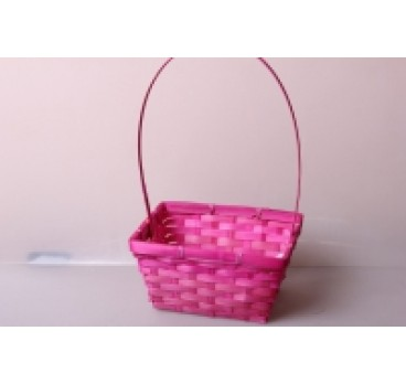 Корзина Плетеная розовая 19*14*9*37