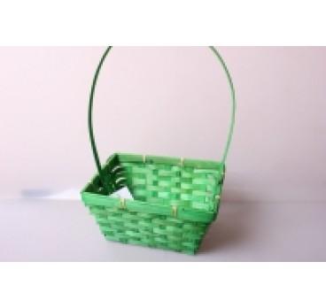 Корзина Плетеная зеленая 19*14*9*37