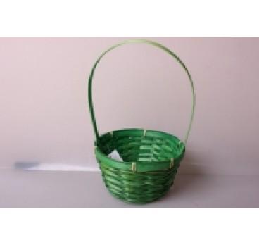 Корзина Плетеная зеленая 17*10*33