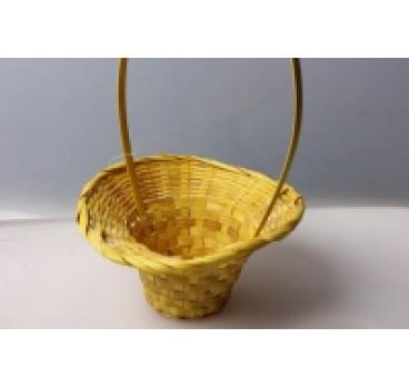 Корзина Плетеная желтая 20*28*9