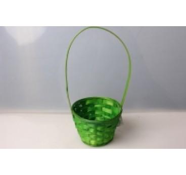 Корзина Плетеная зеленая 13*9*28