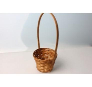 Корзина Плетеная коричневая 13*9*28