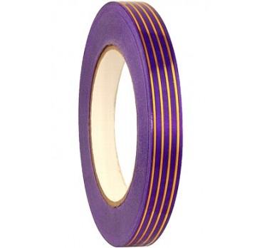 Лента С Золотой Полосой Многополоска Фиолетовый