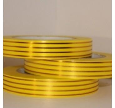Лента С Золотой Полосой Многополоска Желтый