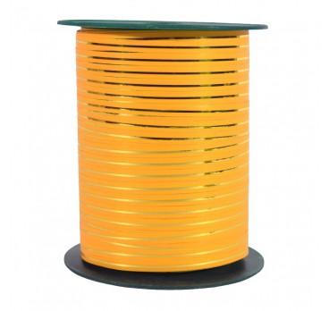 Лента С Золотой Полосой Оранжевый
