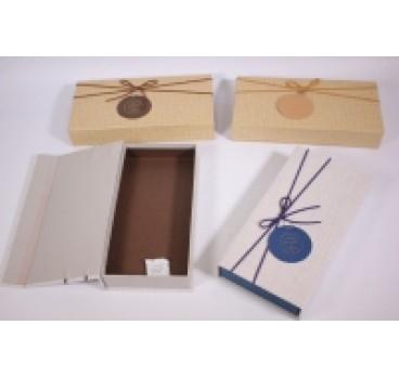 Коробка Прямоугольная на магните в ассортименте 25*12*4 см