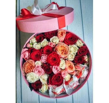 Коробка с цветами №40