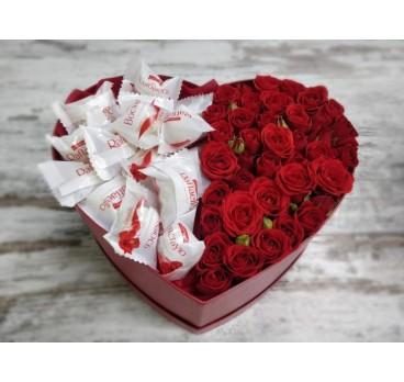 Коробка с цветами №36