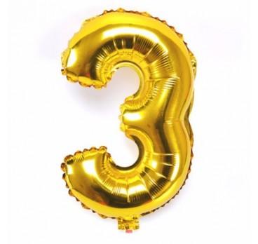 фольгированная цифра №5