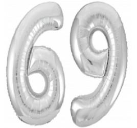 фольгированная цифра №12